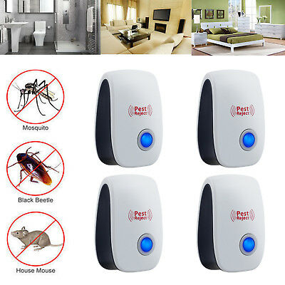 4pcs Ultrasonic Pest Reject Electronic Repeller Anti Mosquito Insect Bug Killer