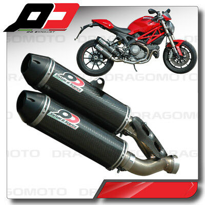 DUCATI MONSTER 1100 EVO 2011 2012 Pot Echappement QD Carbone