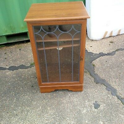 Superbe Hi Fi Unit / Stereo Unit / Storage Unit /glass Fronted Lead Style Door