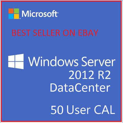 Windows Server 2012 R2 DATACENTER RDS 50 USER CALs/ 50 Device CALs & DOWNLOAD