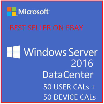 Windows Server 2016 Datacenter Core+RDS 50 USER CALs + DEVICE CALs (best)
