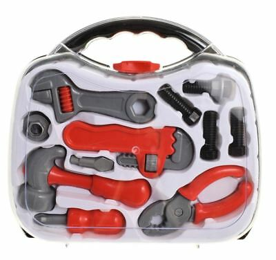 Boys Tool Set Builder Toy Kids Hard Carry Case Role Play