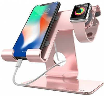 ZVE universal 2 in 1 Phone Stand Apple Watch Stand,Aluminum Apple Iwatch Stands