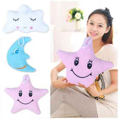 Cute Star Moon Cloud Shape Back Cushion Stuffed Doll Plush Toy Pillow Pendant