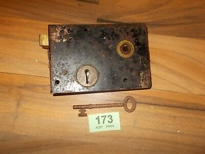 Antique Rim Lock Door Latch Locks With Key 173