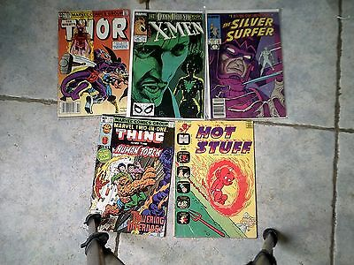 Marvel comics mixed lot of 4 plus Hot Stuff Vintage 70s-90s Free US shipping