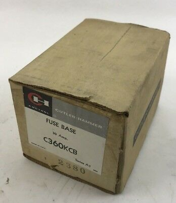 EATON CUTLER HAMMER  C360KCB  FUSE BASE  For 30 AMP SWITCH (NEW IN BOX)