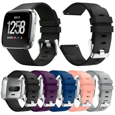 For Fitbit Versa Silicone Sports Fitness Replacement Band Wrist Strap