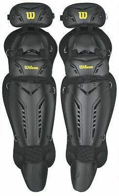 Wilson Adult Guardian Umpires Leg Guards Baseball Triple Knee Protection WTA342