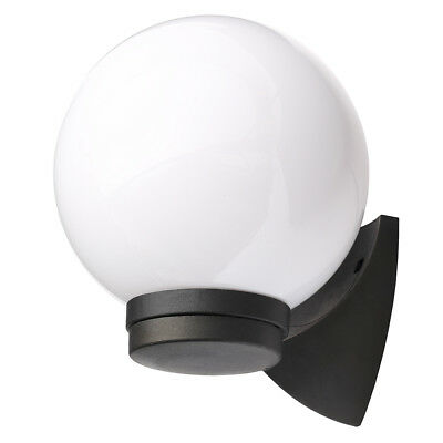 Outdoor Light Wall Globe Lantern IP44 Modern Garden Lighting in Black Litecraft