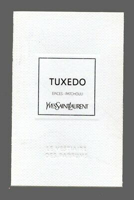 Carte publicitaire -  perfume card -  Tuxedo  d'Yves Saint Laurent