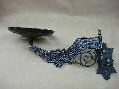 Ornate Victorian Cast Iron Swing Arm Lamp Holder With Wall Bracket!