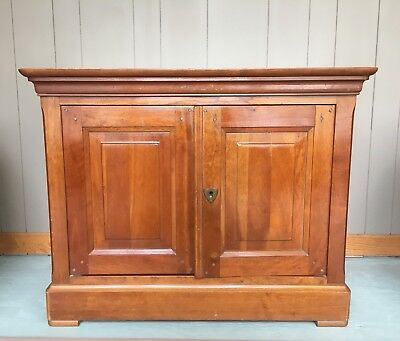 Grange French Cherry Wood Swivel Top Media Cabinet With Two Doors