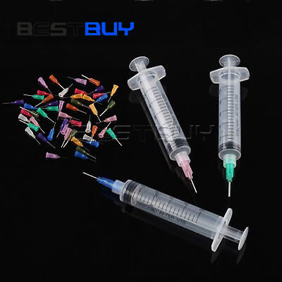 50PCS SMT SMD PCB Solder Paste Adhesive Glue Liquid Dispenser + 3 Syringe BBC