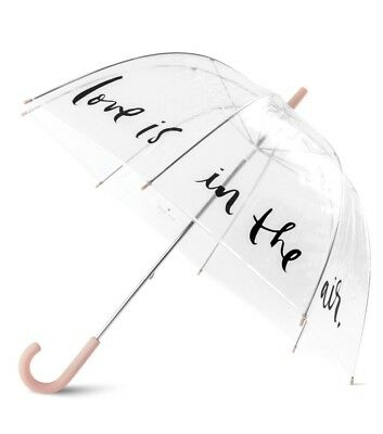 Kate Spade New York Clear Umbrella Love Is In The Air