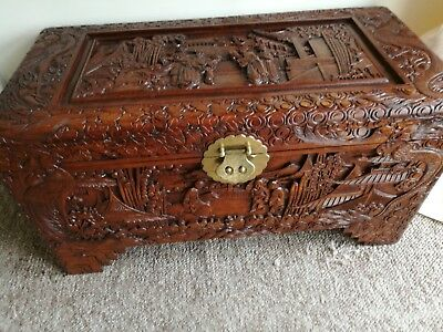 Chinese Storage Box Beautifully Carved