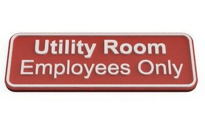 """Plastic Sign Rectangle """"Utility Room"""""""