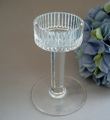 Vintage lead Crystal Candle Holder  Czechoslovakian