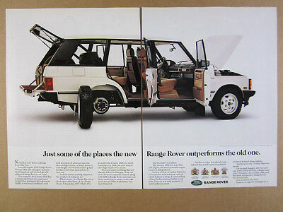 1993 Range Rover County LWB 'Introducing' color photo vintage print Ad