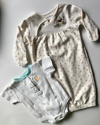 Winnie The Pooh Baby Sleep Sack & One Piece Lot Of Two 0-3 Months Unisex