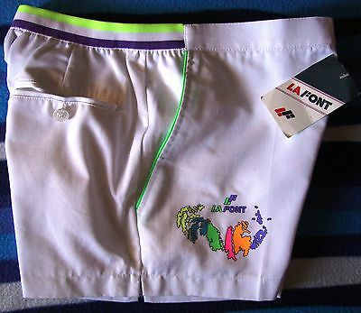 SHORTS TENNIS vintage 80's LAFONT  tg.46-M circa  Made in Italy NEW!  RARE