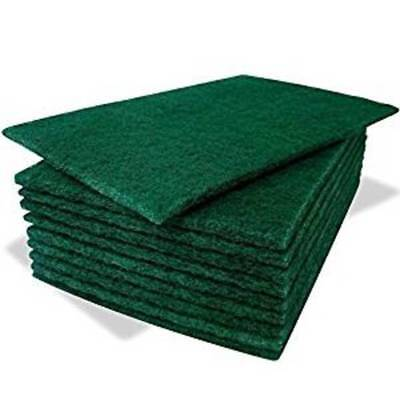 Pack of 20 Heavy Duty Professional Green Scourer Pads (6'' x 9'')