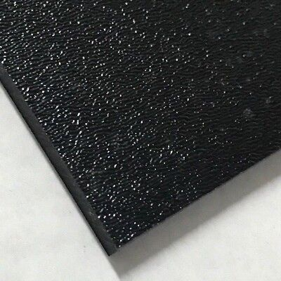"ABS Black Plastic Sheet 1/4"" x 24"" x 48"" Textured 1 Side Vacuum Forming"