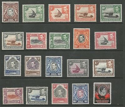 KUT SG131-50b THE 1938-54 GVI SET OF 20 FINE MINT (INCLUDES MNH) C.£250 MINIMUM