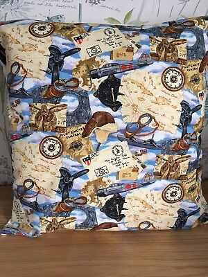 "'US Pilot' Design 16"" x 16"" Square Cushion Cover 100% Cotton"