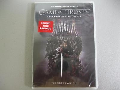 Game of Thrones The Complete First Season DVD Factory Sealed 5 Discs