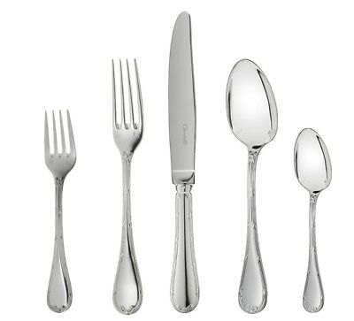 Rubans by Christofle Paris France Silver Plated 5-pc Place Setting Dinner New