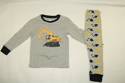 SHELRY Toddler Boy's Long Sleeve Graphic Truck Pajama Set - GRAY - 5T