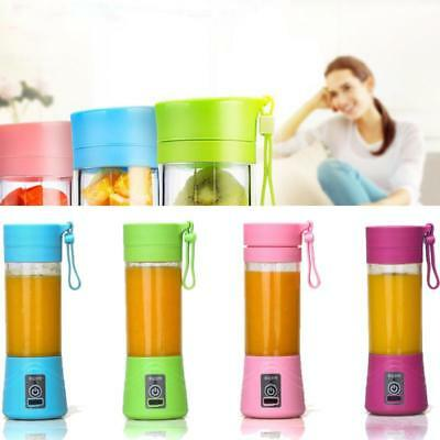 Portable Blender USB Juicer Cup Fruit Mixing Machine Rechargeable Bottle 380ML
