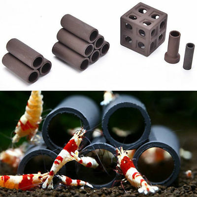 19kinds Aquarium Ceramic Rock Cave Shrimp Fish Tank Hiding Shelter Breeding Cave