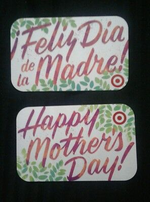 2 Target Mothers Day Gift Cards, English and Spanish, 2018, Collectible, Mint