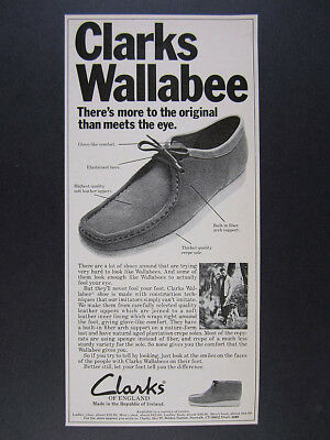 1976 Clarks of England Wallabee Shoes Boots vintage print Ad