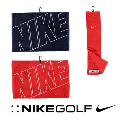 New Nike Golf Jacquard , Tri-Fold and Face / Club Cotton Velour Towel