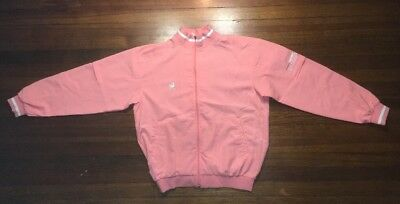 Vintage Asics Japan Jacket Zip FX-2 Sacred Large Rare Recorder Pale Pink New