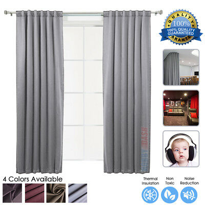 HobbyDash 1 piece Panel Soundproofing Thermal Insulation Black Out Curtain