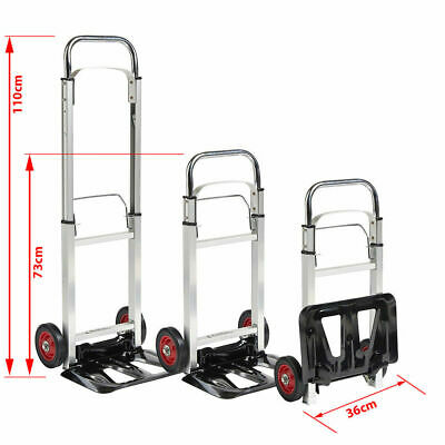 TROLLEY MULTIPURPOSE FOLDING Heavy Duty Sack Truck Cart Aluminium 90 KG