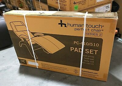 Human Touch Perfect Chair Zero Gravity Recliner Pad Set ONLY   Black Leather