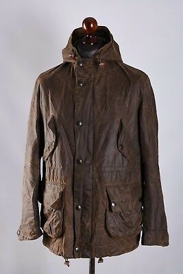 Men's Barbour Derwent Hooded Olive Waxed Jacket Size S Genuine Casual