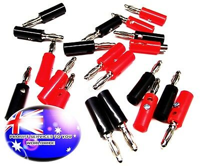 From OZ Quality 20PC Banana Bannana 4MM Male Plug Spacker Jack Connector +FP!