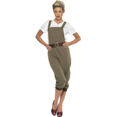 SALE WW2 Land Girl 1940s Munitions Army Munitions Womens Fancy Dress Costume 438