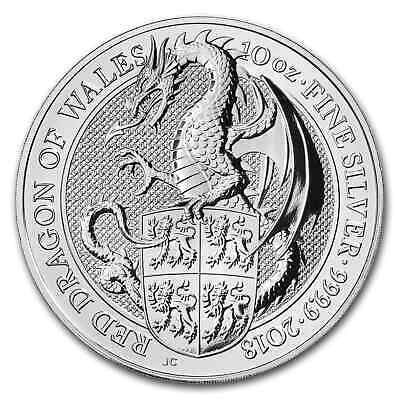 2018 Great Britain 10 oz Silver Queen's Beasts The Dragon - SKU#166545