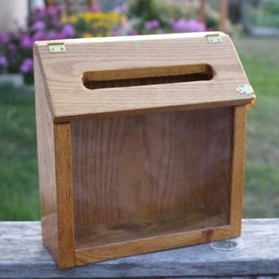 Donation Registration Raffle Box Handmade Wooden Great for Home Based Business