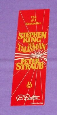 vintage Stephen King Peter Straub THE TALISMAN BOOKMARK promotional PROMO CARD