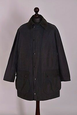 Men's Barbour Border Jacket Size C42 / 107cm Genuine Casual Waxed