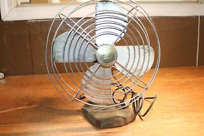 Vintage ART DECO MANNING BOWMAN Model 10503 Electric Fan As-IS