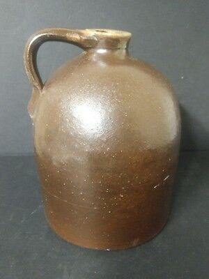 Antique Stoneware Brown Crock Moonshine Whiskey Beehive Jug